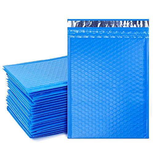 UCGOU #2 8.5x12 Inches Blue Poly Bubble Mailers Padded Envelopes Self Seal Mailing Envelopes Pack of 25