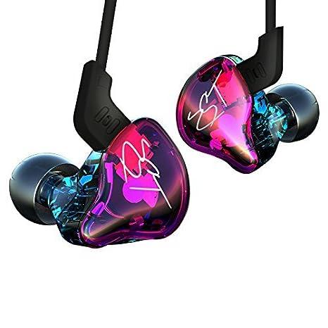 Auriculares ergonómicos KZ ZST Auriculares intrauditivos In-earearphones Montura Dynamic Hybrid Dual Drive Auriculares con cancelación de ruido HIFI ...