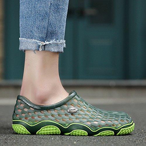 Xing Lin Flip Flop De La Playa Orificio Macho Zapatos De Primavera Y Verano Nuevos Hombres S Hueco Sandalias Informales No - Deslizamiento Juventud Zapatos Sandalias De Playa XS2198 green (large)