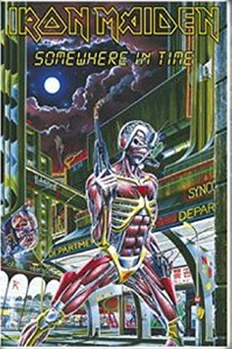 Iron Maiden somewhere in time Deluxe Textile Poster