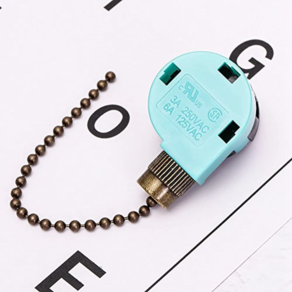 Ceiling Pull Chains Fan Switch Wall Light Cord 3 Speed 4