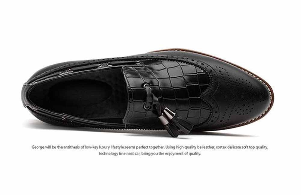 Men Casual Slip On Brogue Popular Tassel Comfortable Pointed Leather Shoes  Evening Brogue Shoes: Amazon.co.uk: Sports & Outdoors