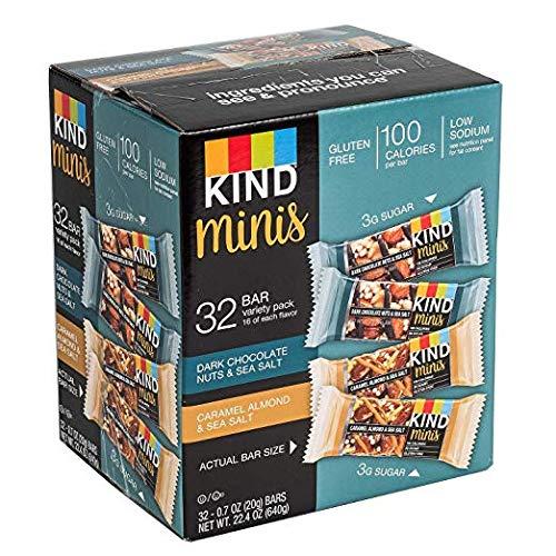 KIND Bar Dark Chocolate Nuts & Sea Salt; Caramel Almond & Sea Salt Gluten Free, Low Sugar