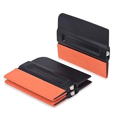 Gomake Auto Vinyl Wraps Tool Professional 4 Inch Magnet Squeegee with Micro-Fiber Felt Edge/Film Squeegee/Vinyl Squeegee/Plastic Scraper, Pack of 3: Automotive
