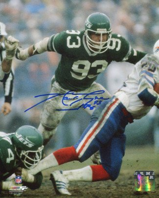 - Athlon CTBL-014852 Marty Lyons Signed New York Jets 8 X 10 Photo - New York Sack Exchange