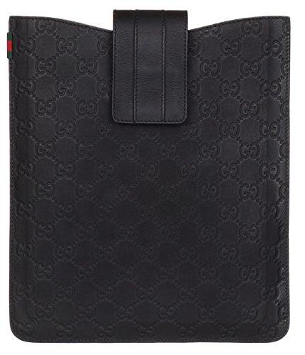 Gucci Black Rubber GG Guccissima Web Stripe Ipad Case