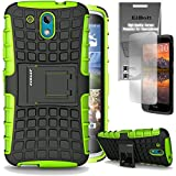 HTC Desire 526 Grenade Combat Case by ElBolt - Green with Free HD Screen Protector