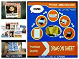TCLPVC Dragon Sheet For I'D Card Tray, ID Card Plastic Sheets HD DPI 50+ 100 Sheets A4