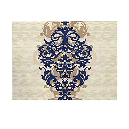 Kitchen Decor Photography Background,Classical Baroque Vintage Design Print Victorian Style Brush Kitchenware Oriental Backdrop for Studio,5x3ft