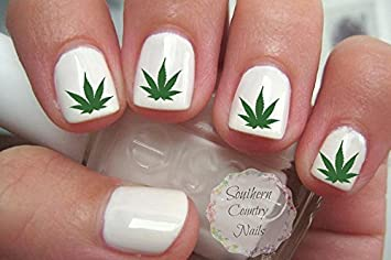 Amazon Marijuana Pot Leaf Nail Art Decals Beauty