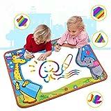 Large Aqua Magic doodle Mat, Water Doodle Mat ,Water Drawing Mat Pad with 2 Water Pens Kids Educational Toys Boys Girls Chrismas birthday Gift