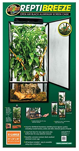 Zoo Med ReptiBreeze Open Air Screen Cage, Extra Large, 24 x 24 x 48-Inches (Cage Reptile Large)