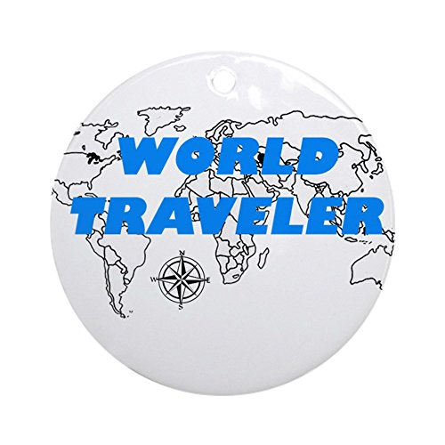 CafePress World Traveler Ornament Round Round Holiday Christmas Ornament