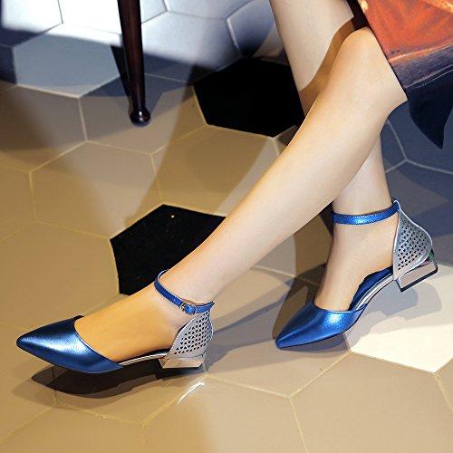 baja luz mujer azul expuesto Sandalias 3cm Transpirable butt 36 seguir a Moda con Zapatos AJUNR elegante de 39 sugerencia color de xTzSwKqY4