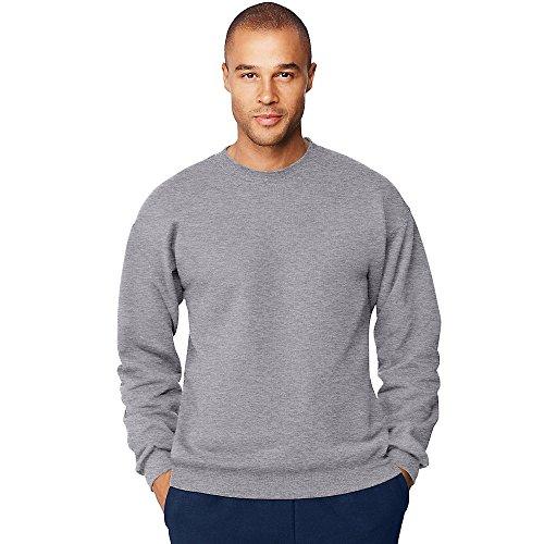 - Hanes by Men's Ultimate Cotton Heavyweight Crewneck Sweatshirt_Oxford Gray_XL