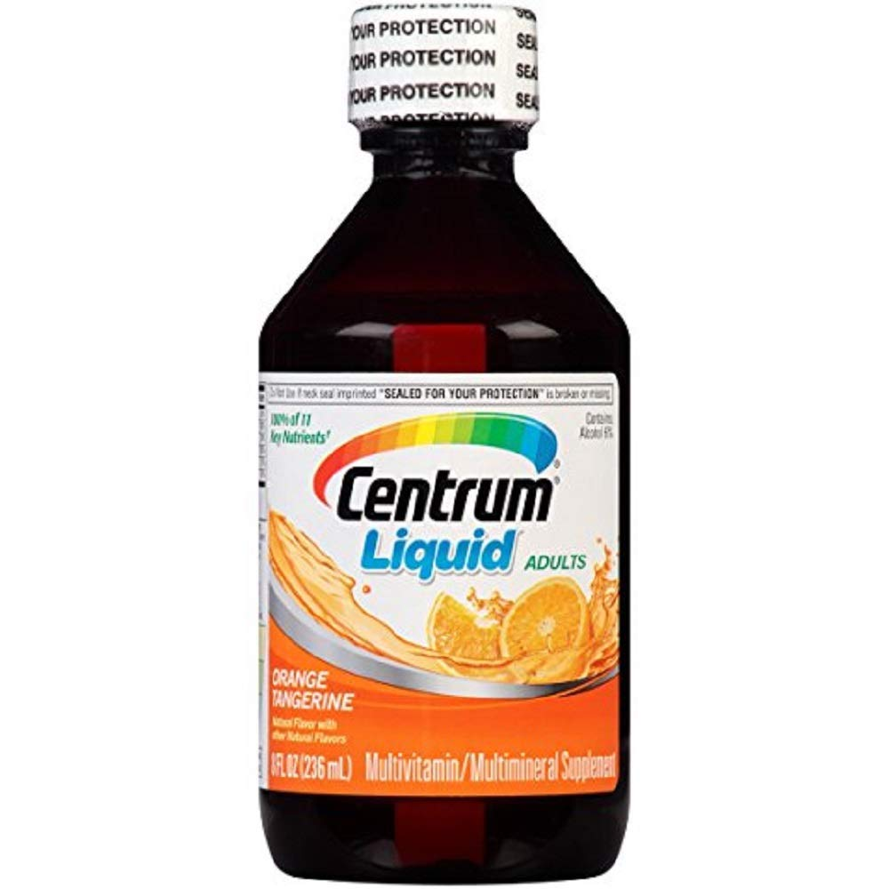 Centrum Liquid Multivitamin Multimineral Supplement Citrus Flavor 8 Ounce Value Pack of 2