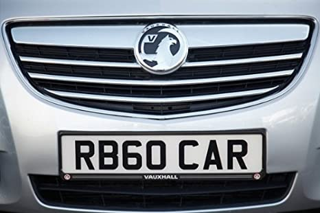 2x Number Plate Surrounds Holder Carbon for Vauxhall Astra GTC