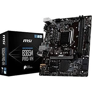MSI ProSeries Intel B365 Lga 1151 Support 9th/8th Gen Intel Processors Gigabit LAN DDR4 USB/VGA/HDMI Micro ATX…