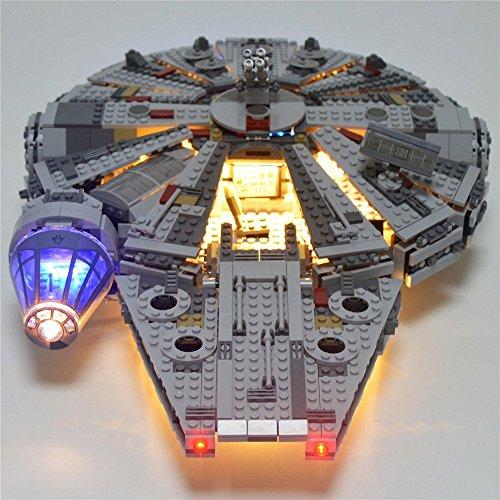 JULITE Led Light Blocks Up Kit For lego 75105 and 05007 Star Wars Millennium Falcon Building Blocks Model
