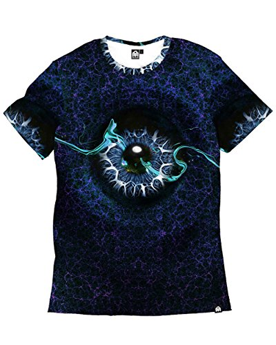 INTO THE AM Perception Premium All Over Print Tee (Large, Blue)