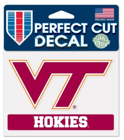 NCAA Official Virginia Tech University Hokies 4x5 Perfect Cut Decal