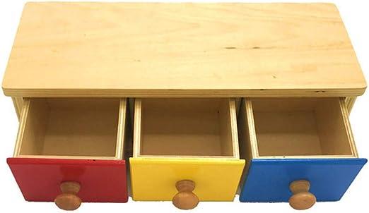 mAjglgE Caja de Madera para niños de 3 Colores con cajones, de la ...