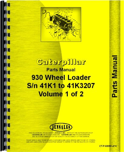 Caterpillar 930 Wheel Loader Parts Manual (SN# 41K-41K3207) ebook