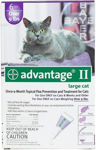 Advantage II Topical Flea Control - Over 9 lbs - 6 pack