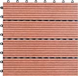 Naturesort N4-OT02 Bamboo Composite Deck Tile, 4-Piece