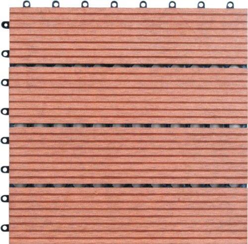 Naturesort n4-ot02竹複合デッキタイル、4ピース B00A9Y3OR8