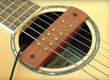 ARTEC BUBBINGA madera pastilla magnética para guitarra acústica tipo ...