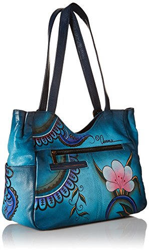 Anuschka Bag Denim Shoulder Floral Medium Paisley DPF rrZavAwq