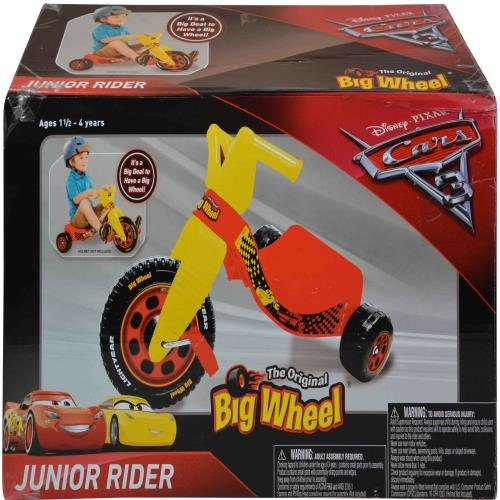 Lowest Prices! Disney Cars Junior Big Wheel Ride On The Original Big Wheel