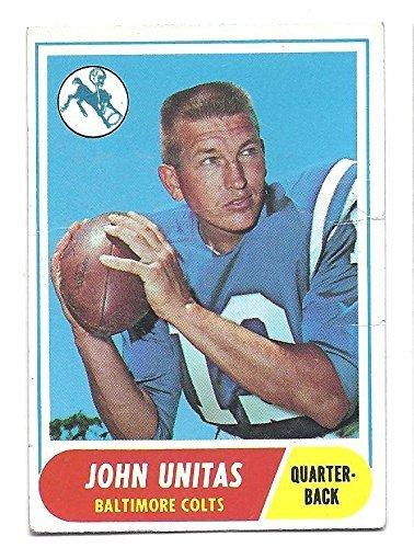 JOHNNY UNITAS 1968 Topps #100 Card Baltimore Colts Football 1968 Baltimore Colts