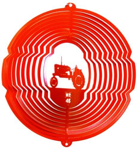 (Stainless Steel Orange Tractor - 12 Inch Wind Spinner, Orange)
