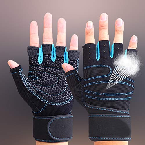 LUONG THANH THUY Exercise Gloves - TNINE Gym Gloves with Wrist for Gym Workout Crossfit Weightlifting for Men and Women Fitness Sport Gloves Gym Half Finger Gloves