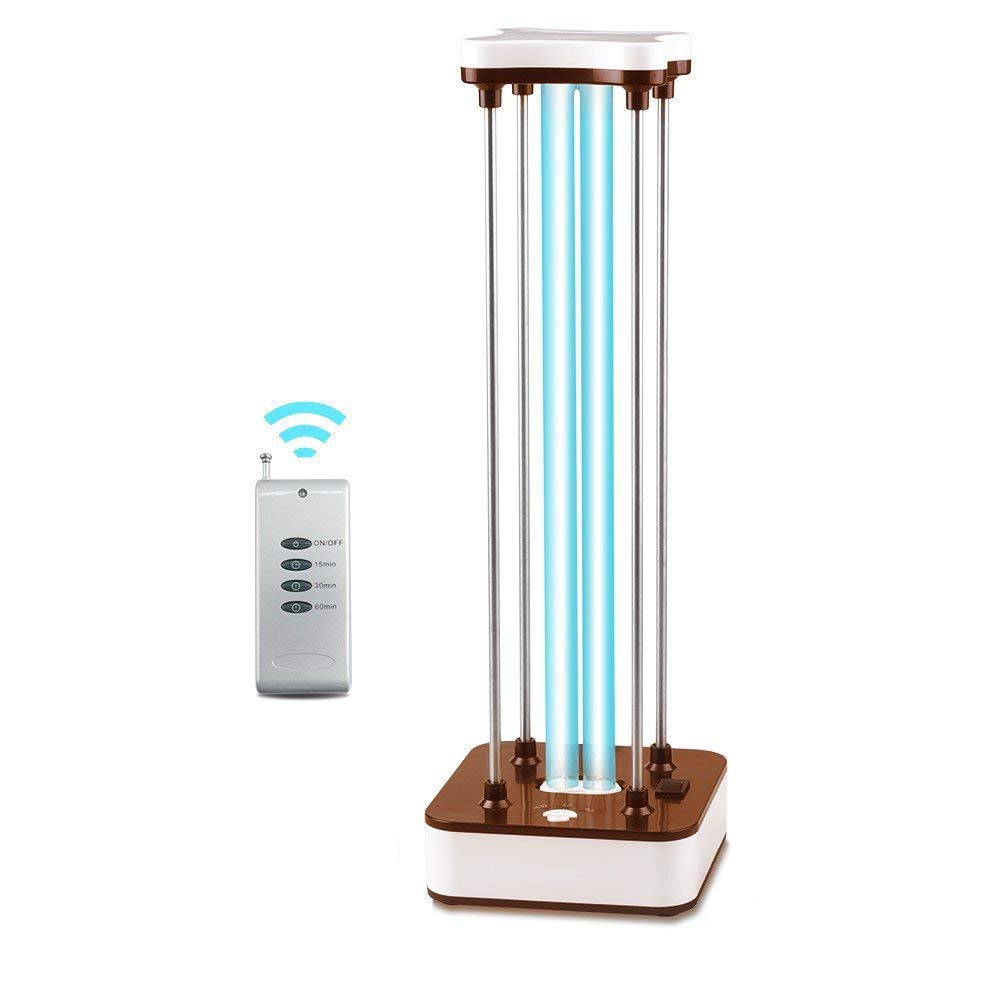 RAIN QUEEN 220V Air Purifier UV-C Mobile Room Steriliser Light Remote Control kills 99% of bacteria viruses and mould for Car Household Refrigerator Toilet Pet Area Home (Brown)