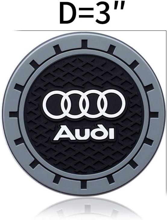 HEY KAULOR 2Pcs 3 inch Vehicle Travel Auto Cup Holder Insert Coaster Mat for BMW Jeep Honda Toyota Audi