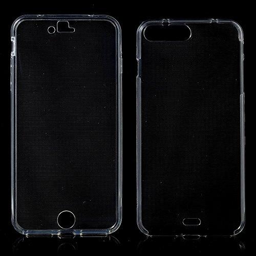 König-Shop Full TPU Case für Apple iPhone 8 Plus Schutz Hülle Handy Transparent Cover 360