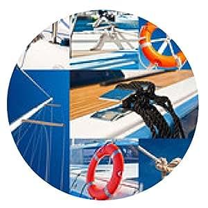 alfombrilla de ratón Yachting & Marina - collage de fotos - ronda - 20cm