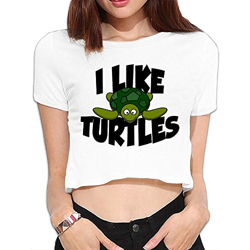 I Love Turtles! Women's Short Crop Top ()