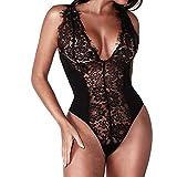 Sexy Lingerie for Women Wugeshangmao Girls One Piece Sold Lace Babydoll Underwear Honeymoon Nightwear Black