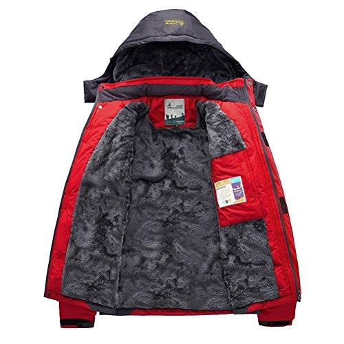 Altamente Con Cappuccio Resistente Tattico Uomo Giacca Rosso Softshell Cappotto Invernale Impermeabile Outdoor All'acqua Minetom Militare YCx4qwzAY
