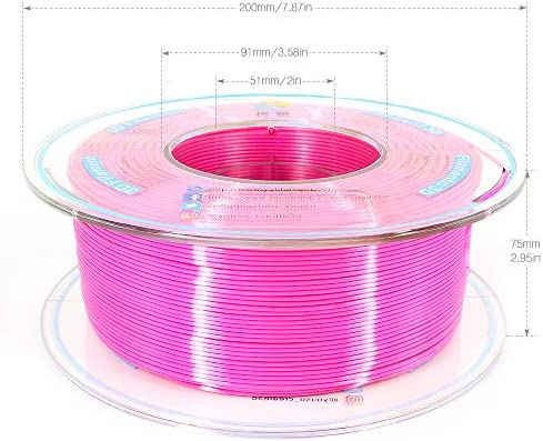 Compatible with Most of 3D Printer. Strong bonding and Overhang Performance Gold Pearlescent PLA 3D Filament with Gorgeous Surface by Yousu 1.75mm 1kg Tangle Free