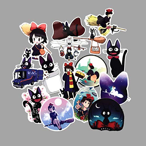 - Kiki's Delivery Service Stickers Clear Stickers No-Duplicate Waterproof Vinyl Stickers for Skateboard Luggage Helmet Guitar (Kiki's Delivery Service)