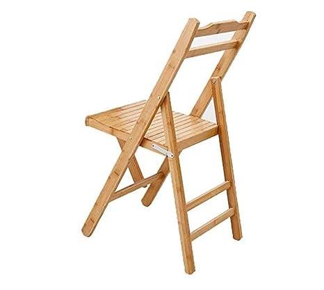 AZHom Silla Plegable Silla de bambú Silla de Pesca al Aire ...