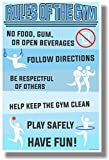 Rules Of The Gym – NEW Classroom Motivational Poster