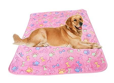 Hosaire Acolchado del animal doméstico suave cálida mascota pata de impresión sueño mascota perro gato manta cojín Mat 60 * 40 CM Rose: Amazon.es: Productos ...