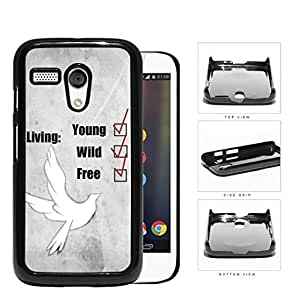 Young Wild And Free Checklist And White Dove Hard Plastic Snap On Cell Phone Case Motorola Moto G