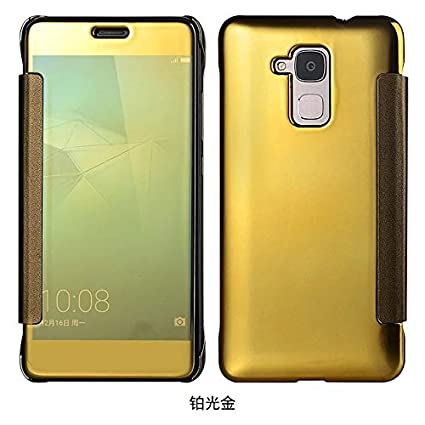 huge discount f7366 5c488 Amazon.com: Huawei Honor 5C Case, Luxury Original Mirror View Window ...